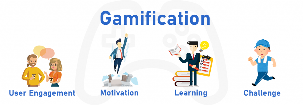 This image displays the benefits of using gamification during orientation week.